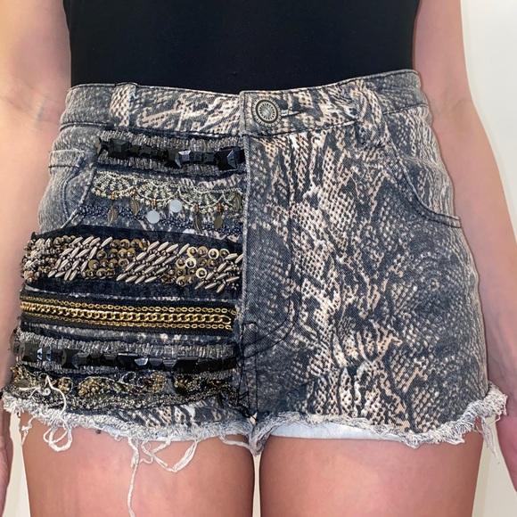 English Rose denim shorts with bling size M